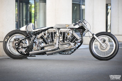 Lowbrow Spotlight: Double Engine Ironhead Sportster Drag Bike by Hot Chop Speed Shop - Lowbrow Customs