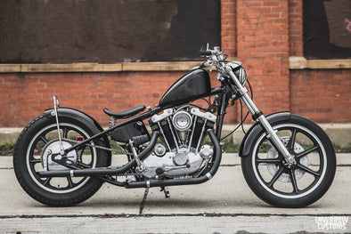 Lowbrow Spotlight: The Gasbox's 1972 Harley-Davidson XL Ironhead Sporster - Fuel Cleveland Raffle Build