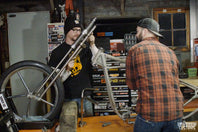 VIDEO-Geared Science - Ian Olsen's Harley-Davidson Shovelhead Build Part 2 - The Mock Up & Idea Stage