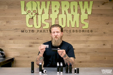 Video: Lowbrow Customs - Finish Line Motorcycle Custom Grips & Pegs - Product Review