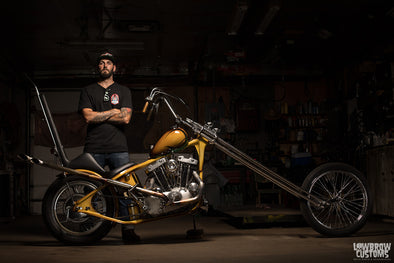 Lowbrow Spotlight: Meet John Morehead and His 1977 Harley-Davidson XLT Ironhead Sportster Chopper