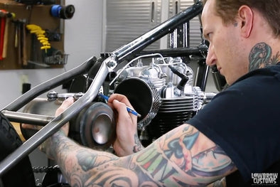 VIDEO: Motorcycle Oil Tank Install How-To on a Hardtail Triumph Chopper