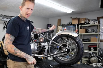 VIDEO: How To Install: A Rear Motorcycle Fender On a Triumph Chopper / Bobber