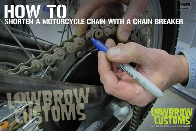 How To Shorten a Motorcycle Chain With a Chain Breaker
