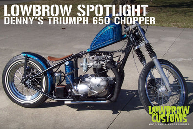 Lowbrow Spotlight: Denny's 650 c.c. Triumph Chopper