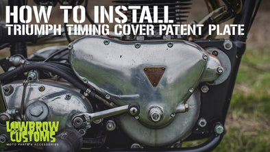 How to Install a triumph timing cover patent plate