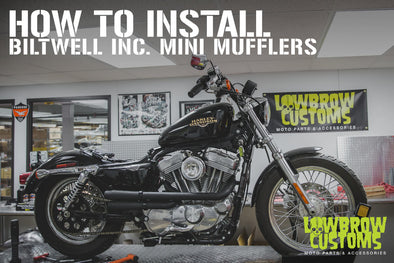 How To Install: Biltwell Mini Mufflers on to Lowbrow Customs Shotgun Pipes