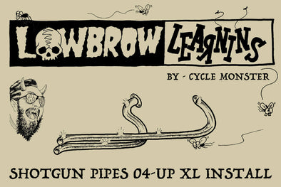 Lowbrow Learnins: How-To DIY Install Shotgun Exhaust Pipes 2004 & up Harley Sportster