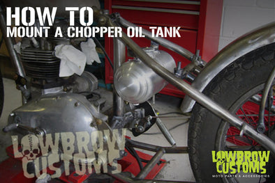 how to mount a chopper oil tank