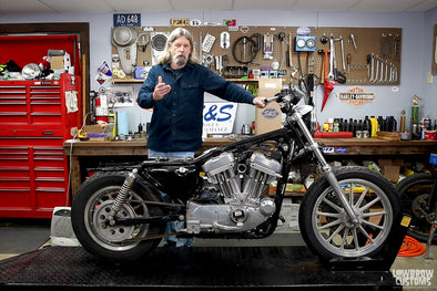 How To Install S&S Cycles 1200cc Hooligan kit for 883cc HD Sportsters - Part 1 - Disassembly