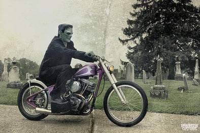 Happy Halloween Motorcycle Images - Movie Monsters with Harley & Triumph