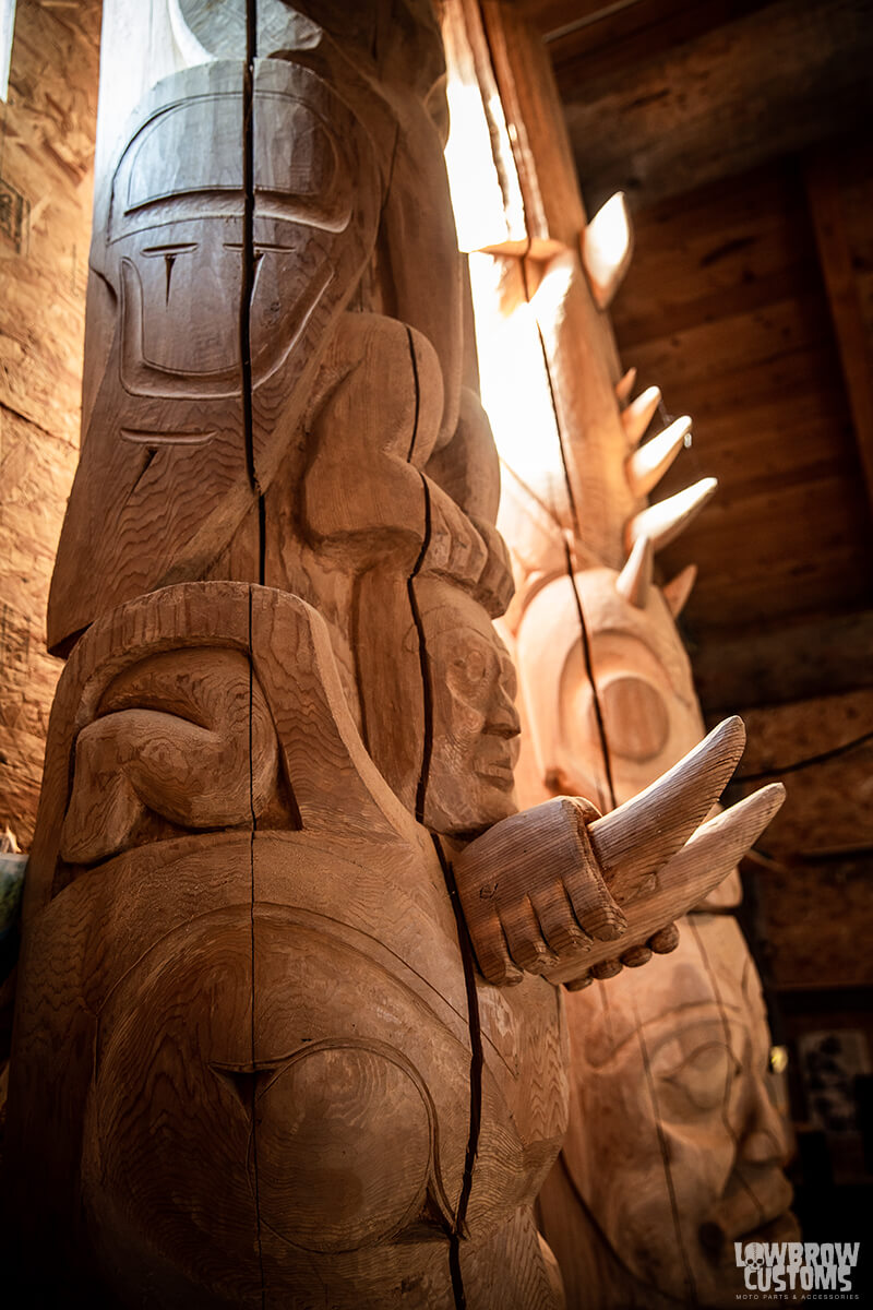 Totem Poles carved by Calvin McNeil