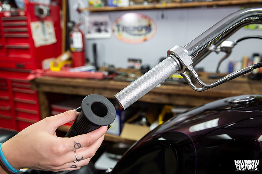How To Install Custom Motorcycle Grips-8757