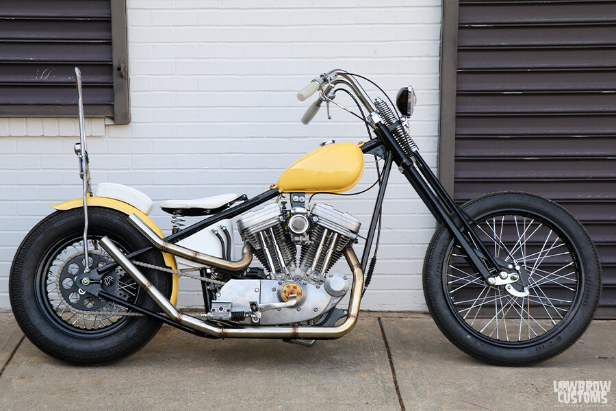 This custom Sportster was built for Emma's stature.