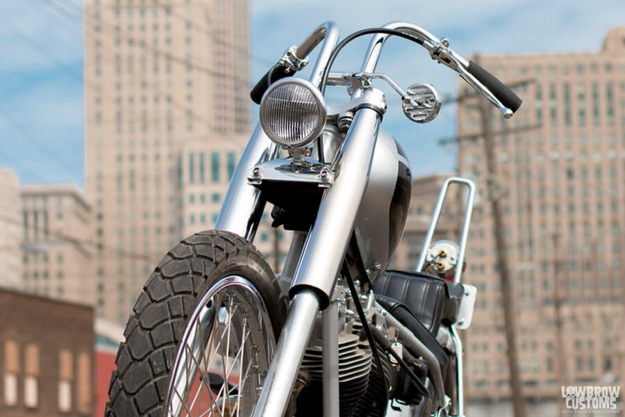 Lowbrow Customs 39mm Fork Shrouds on motorcycles-1