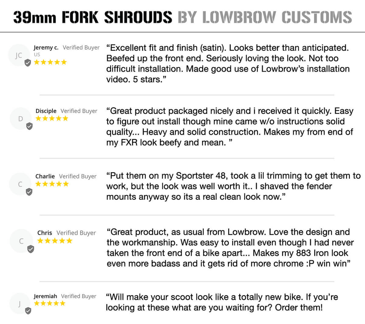 Lowbrow Customs 39mm Fork Shrouds review