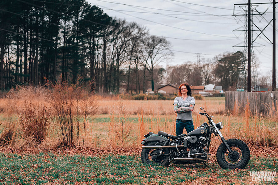 Lowbrow Customs Spotlight-Annette LaRue's 1958 Harley-Davidson FLH Duo Glide Panhead-Liam Kennedy Photos-6