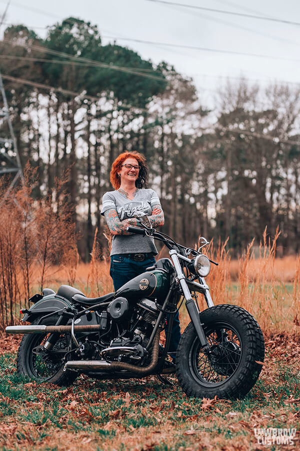 Lowbrow Customs Spotlight-Annette LaRue's 1958 Harley-Davidson FLH Duo Glide Panhead-Liam Kennedy Photos-1