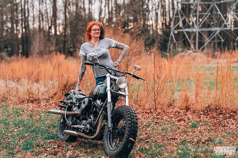 Lowbrow Customs Spotlight-Annette LaRue's 1958 Harley-Davidson FLH Duo Glide Panhead-Liam Kennedy Photos-26
