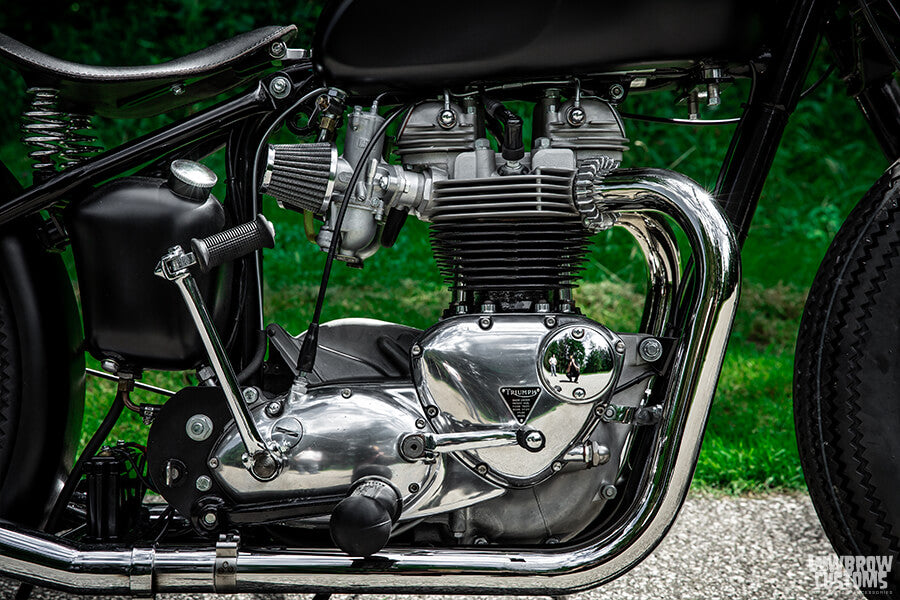 The heart and soul of this bike, the 650cc Triumph Engine that was used in the Youtube video series.