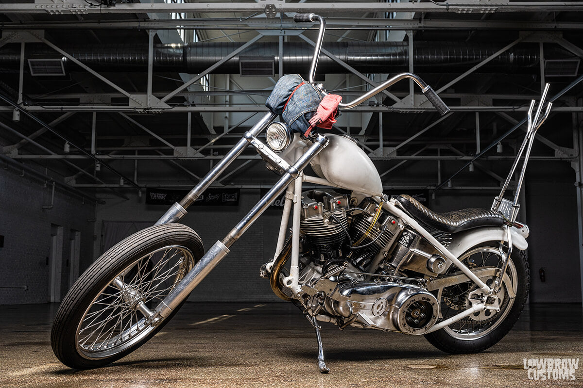 Nick Barkley's Harley has a 41mm Wide Glide front end. Photo by David Carlo.