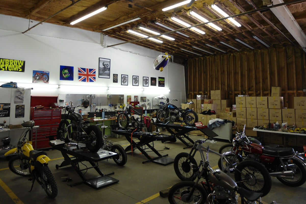 The 'middle bay' which started as an R&D and bike work area, but slowly got overtaken by shelving.