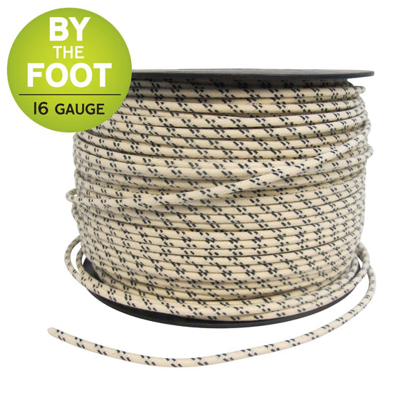 Cloth Covered Wire - 16 gauge - sold by the foot - Assorted Colors Available