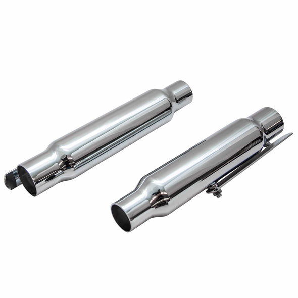 Shorty Mufflers for 1-1/2 to 1-3/4 inch Exhaust Pipes