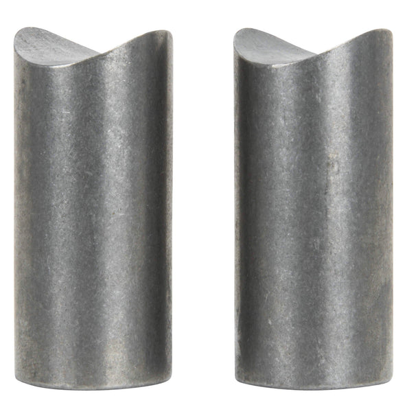 Coped Steel Bungs 1-1/2 inch long - 3/8-16 thread - 2 pack
