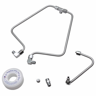 Shovelhead Rocker Box Split Oil Lines - Stainless Steel