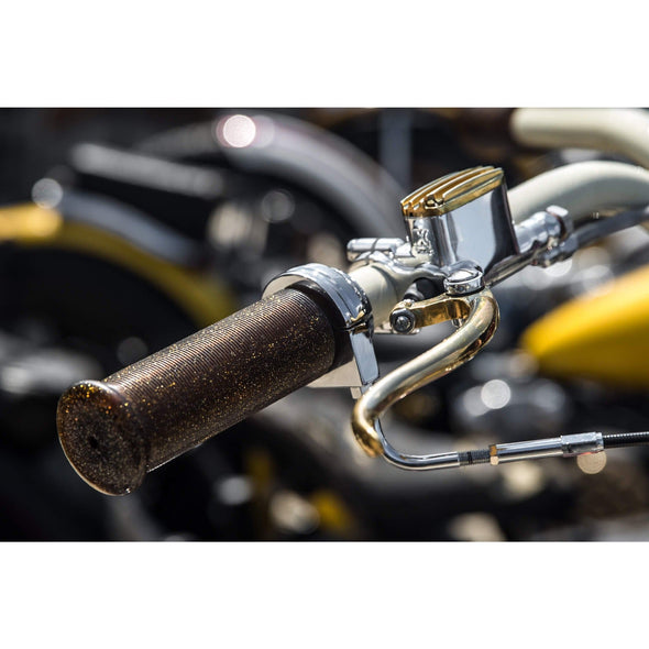 DeLuxe 1 inch Master Cylinder Polished Aluminum & Brass