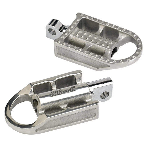 Mushman Foot Pegs- H-D - Cast Polished Stainless