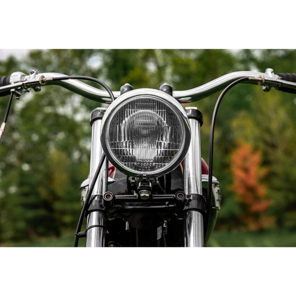 5-3/4 inch diameter Chrome Bottom Mount Halogen Headlight