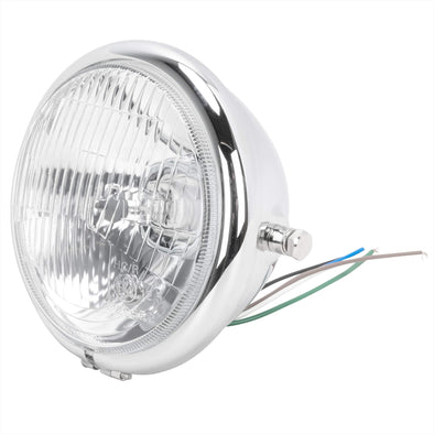 5-3/4 inch diameter Chrome Side Mount Halogen Headlight