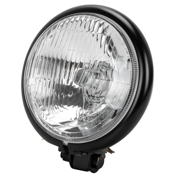 5-3/4 inch diameter Black Bottom Mount Halogen Headlight