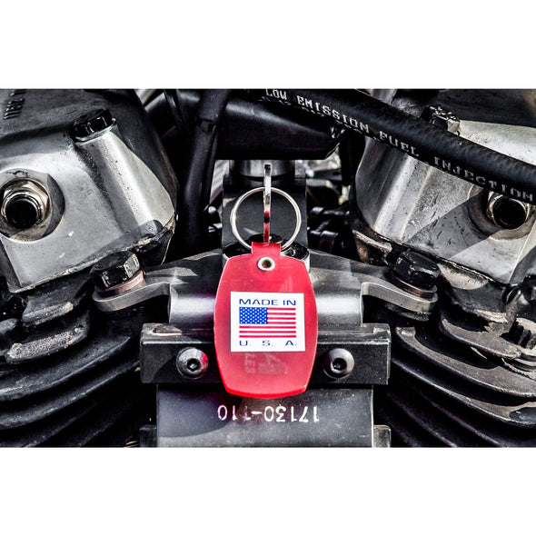 Weatherproof Starter Ignition Key Switch - Chrome Bezel