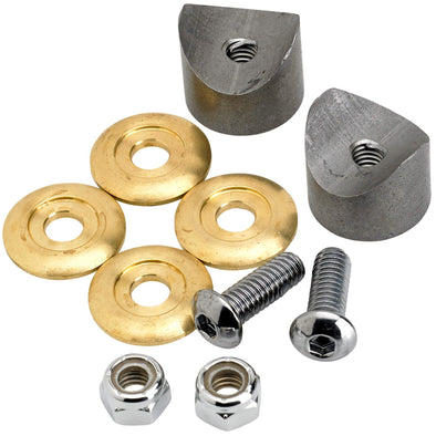 Solo Seat Hairpin Spring Mounting Kit - Brass Washers