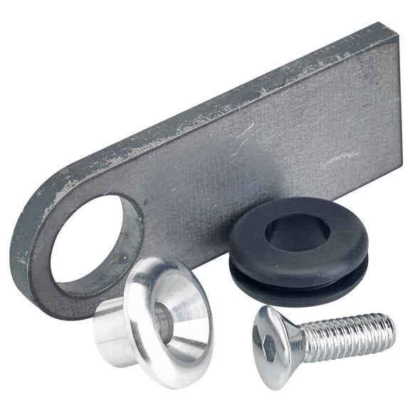 Rubber Mount Finger Tabs - Flat Head Allen - 1/4 inch Thick - Aluminum Washer