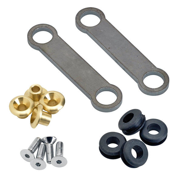Universal Frisco Gas Tank Rubber Mounting Kit with Brass Inserts - Flat Head Allen