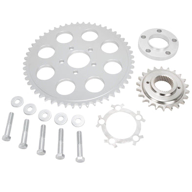 Belt to Chain Conversion Kit Harley 1200 Sportster 2004 & up - Silver Sprocket