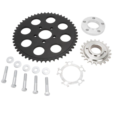 Belt to Chain Conversion Kit Harley 1200 Sportster 2004 & up - Black Sprocket
