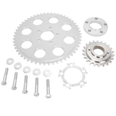 Belt to Chain Conversion Kit Harley 883 Sportster 2004 & up - Silver Sprocket