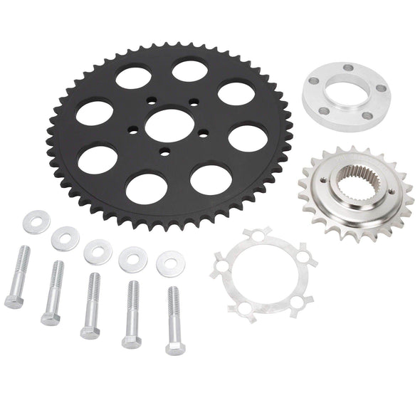 Belt to Chain Conversion Kit Harley 883 Sportster 2004 & up - Black Sprocket