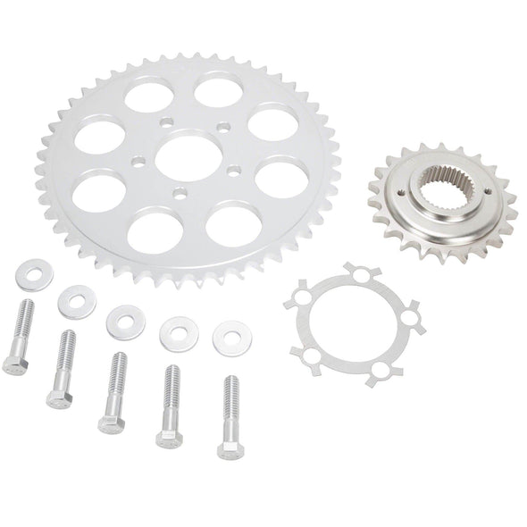 Belt to Chain Conversion Kit Harley 883 Sportster 1994-2003 - Silver Sprocket