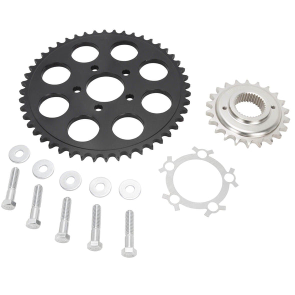 Belt to Chain Conversion Kit Harley 883 Sportster 1994-2003 - Black Sprocket