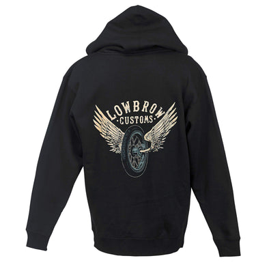 Winged Wheel Mens Hooded Sweatshirt