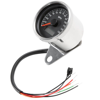 Mini Programable Electronic Speedometer - 2.4 inch - Black Face