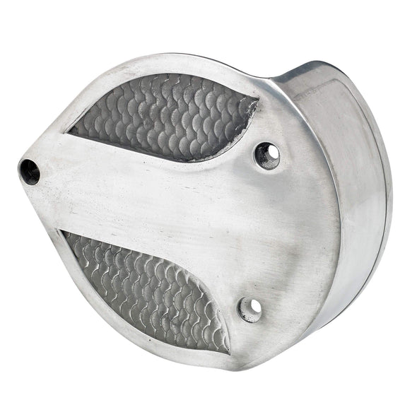 Fish Scale Air Cleaner Cover for S&S Super E/G - Semi Polished