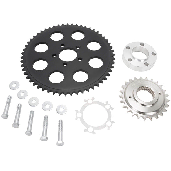 Belt to Chain Conversion Kit Harley Davidson Dyna Twin Cam 2006 & up - Black Sprocket