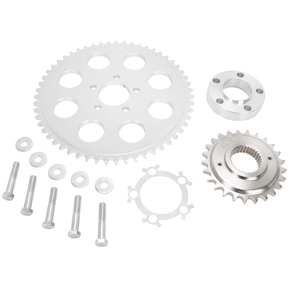 Belt to Chain Conversion Kit Harley Davidson Dyna Twin Cam 2006 & up - Silver Sprocket